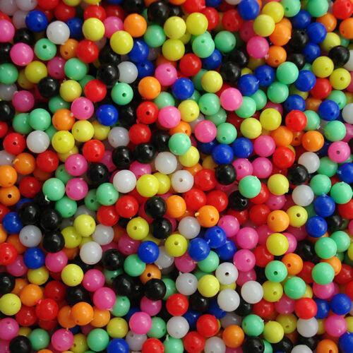 100x  Perlensortiment Plastik Perle Angel Perlen Rund Perlen Köder Fischköder~