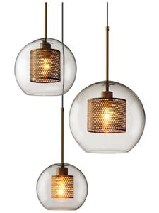 Modern Clear Glass Ball Pendant Light Restaurant Hanging Lamp