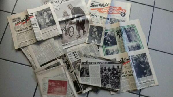 600 G Zeitungsausschnitte 1955 1956 Friedesnfart Bz Am Abend Waren Jeder Beschreibung Sind VerfüGbar