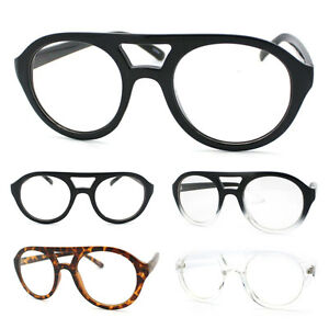 534618b90c Retro Aviator Eye Glasses Frame Clear Lens Plastic Double Bridge (5 ...