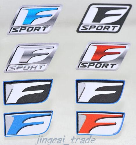 8 pcs Color F Sport Logo Car Auto Sticker Decal Badge Emblem OEM for Lexus Set