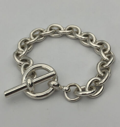 Designer Signed Sterling Silver Multi Strand Layered Ball Bead Bracelet Ladies 925 Sterling Silver Thick Heavy Multiple Chain Bracelet