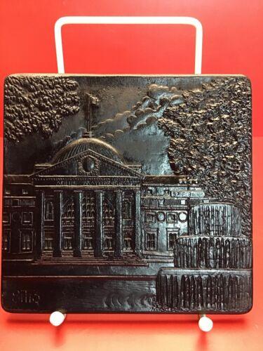 Zierguss Eisenguss Wiesbaden Rheinhütte Gussbild Andenken 1983 Kurhaus