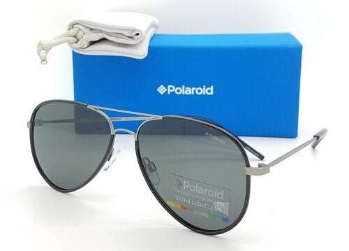 NEW Polaroid sunglasses PLD1020//S R80 56mm Black Gunmetal Grey AUTHENTIC Aviator
