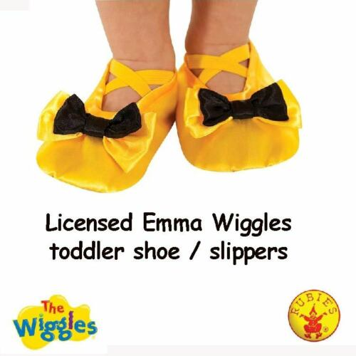 The Wiggles Emma Girls Shoe Slipper Yellow Toddler Child Kids Costume Accessory