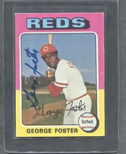 1975-Topps-87-George-Foster-Signed-Card-Reds-Flat-Rate-Ship