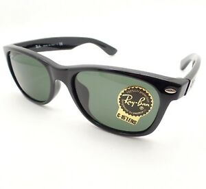 25797aa57 Ray Ban New Wayfarer 2132 F ASIAN FIT 901 Black G15 New Authentic ...