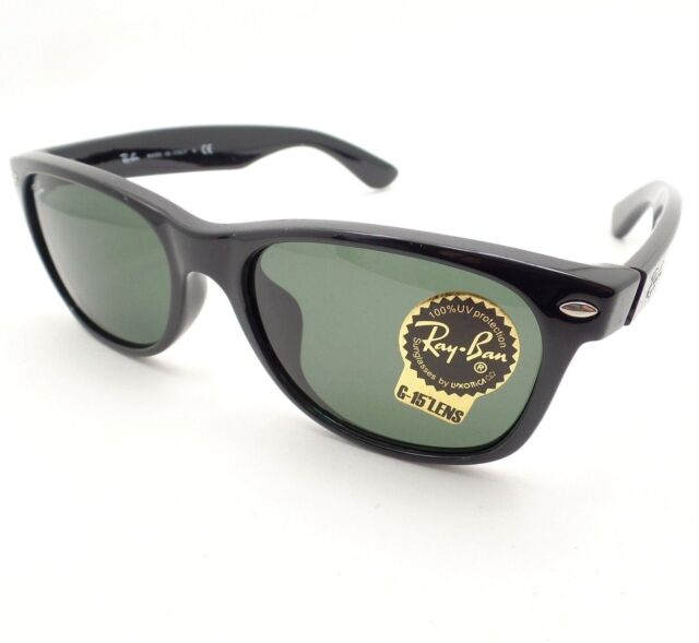 bd71ad05ca0 Ray Ban New Wayfarer 2132 F ASIAN FIT 901 Black G15 New Authentic Sunglasses