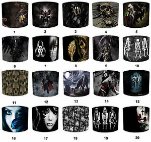 Lampshades-Ideal-To-Match-Alchemy-Gothic-Magistus-Grim-Reaper-Skeletons-Pillows