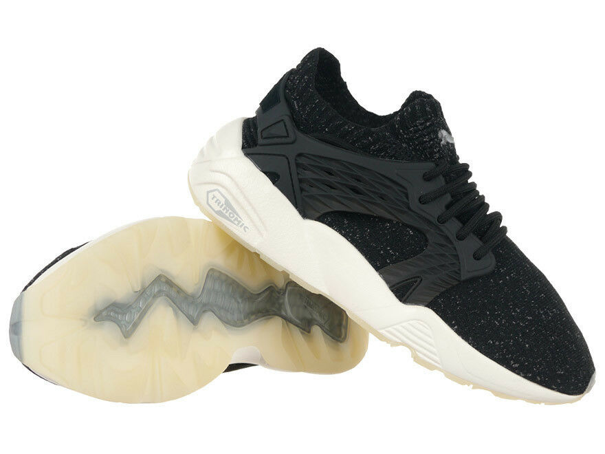 Unisex Puma Blaze Cage evoKNIT Trainers Everyday Sneakers Black Shoes
