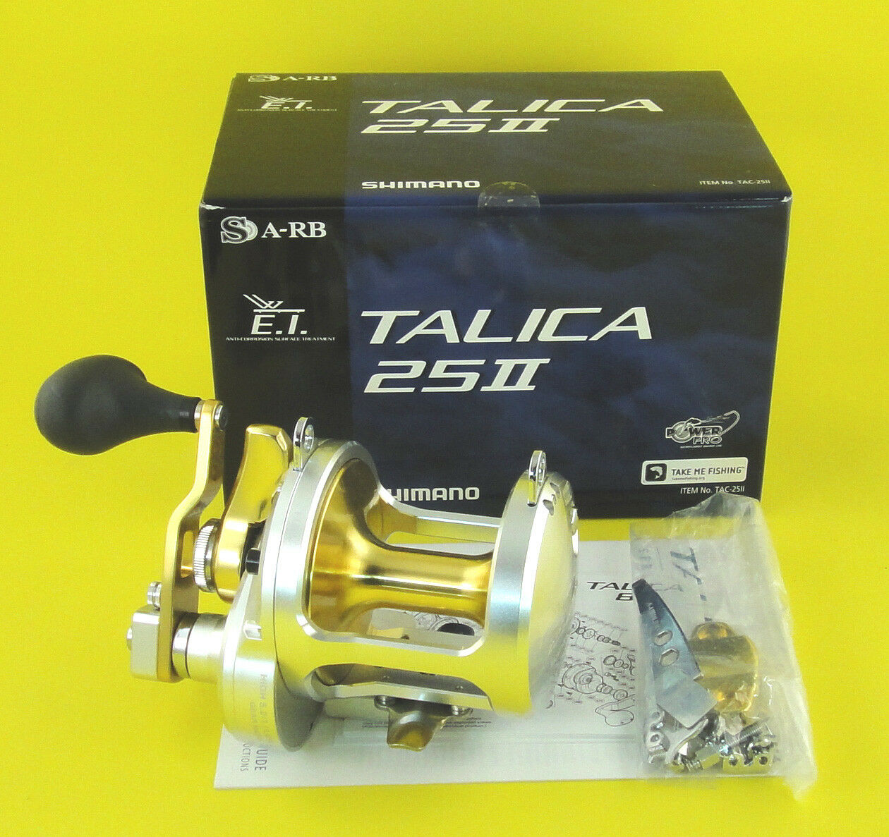 NEW SHIMANO TALICA 25 25II 2-SPEED REEL U.S SELLER FREE 1-3 DAYS DELIVERY