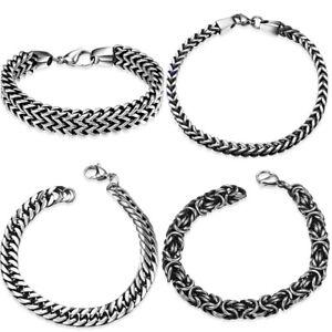 Men-Stainless-Steel-Double-Link-Chain-Elegant-Wrist-Bracelet-Solid-Male-Jewelry