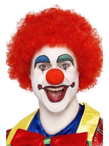 Men/'s Women/'s Afro Parrucche Costume Divertente Clown Funky Neon Festival Addio al Celibato Nubilato Tema
