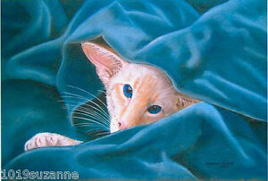 Siamese-Cat-Redpoint-print-Ltd-Edition-from-original-painting-by-Suzanne-Le-Good