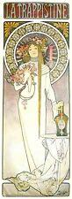 "La Trappistine Art Nouveau Deco Print Alphonse Mucha 16x6"" Poster NEW"