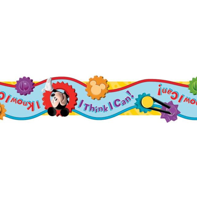 Mickey Mouse Clubhouse I Think I Can Extra Wide Die Cut Deco Trim Eureka EU-8452