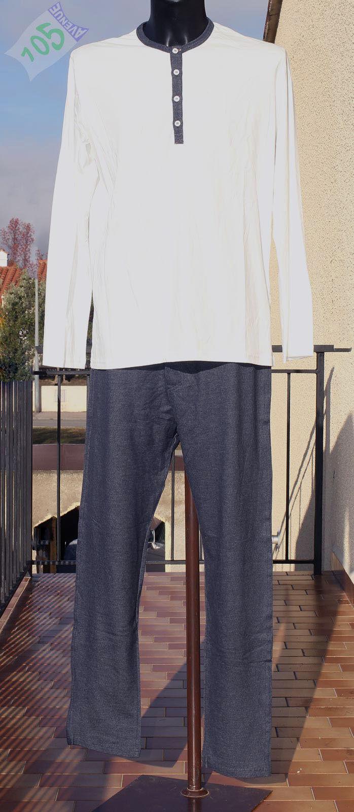 NEUF @@  PYJAMA M.L 100% COTON+ HOM Loungewear Jay + FR 3 5 ou 6 (4 6 ou 7 eur)