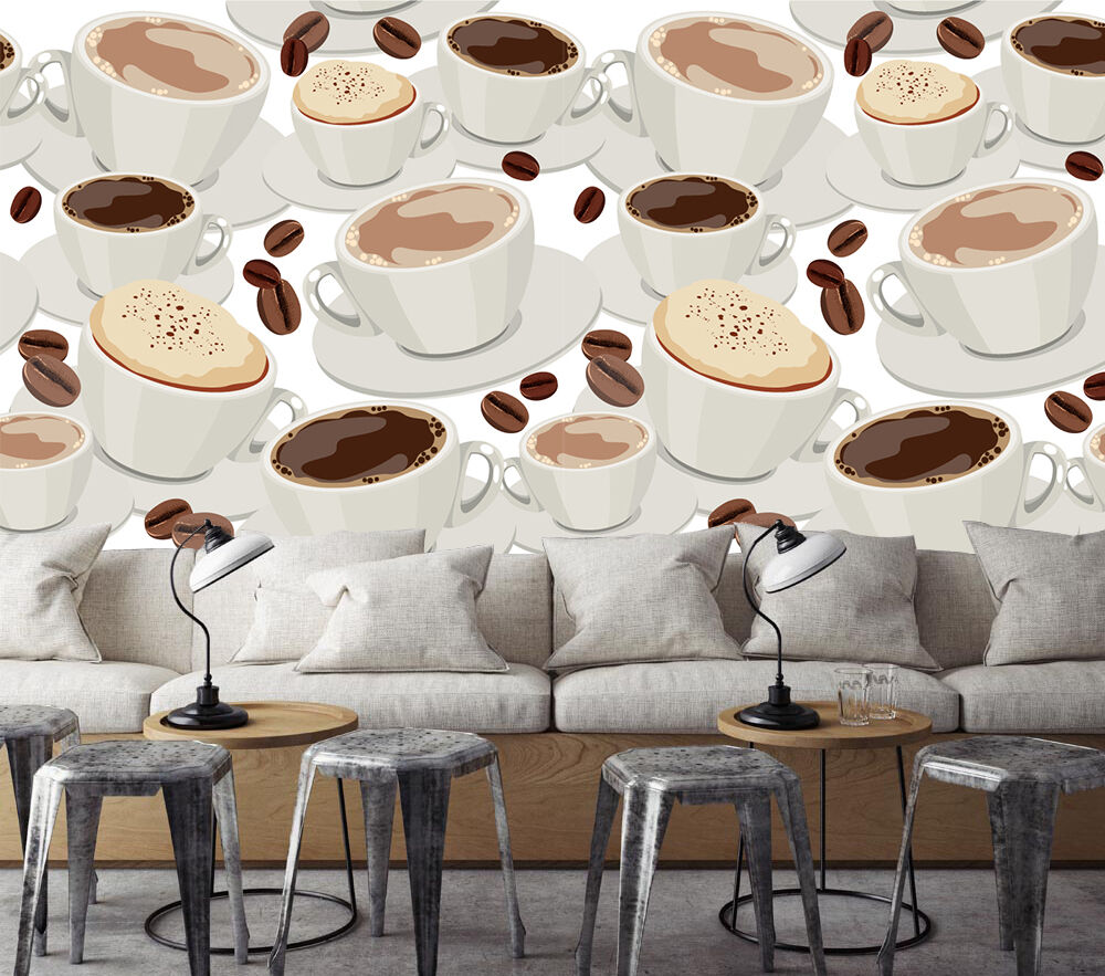 3D Coffee Cups Patterns 1037 Paper Wall Print Wall Decal Wall Deco Indoor Murals