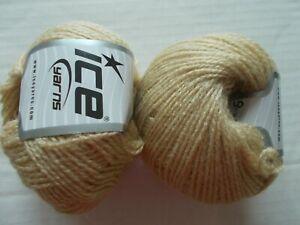 lot of 2 Ice Yarns Sparkle Nylon yarn 220 yds each variegated blues