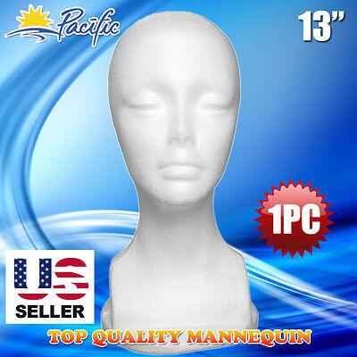 """NEW MALE STYROFOAM FOAM MANNEQUIN MANIKIN head 11/"""" wig display hat glasses 8pc"""