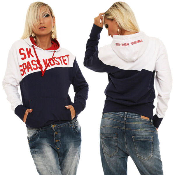 Frauen Mädchen Kapuzenpullover Spass kostet Label Kult Marke Streetwear Trend