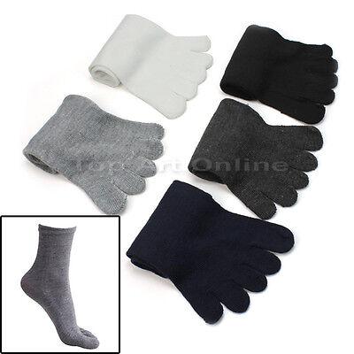 5 Pairs Unisex Mesh Soft Socks Pure Cotton Sport Five Seperate Finger Toe Socks