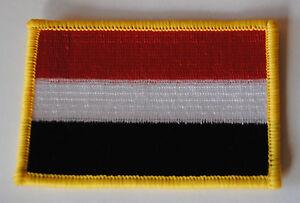 AUFNÄHER PATCH AUFBÜGLER JEMEN ROT WEISS SCHWARZ AFRIKA FAHNE FLAGGE
