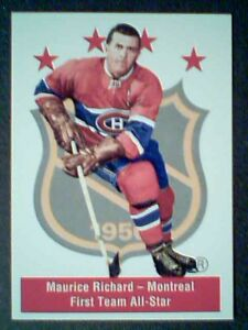 MAURICE-RICHARD-FIRST-TEAM-ALL-STAR-PARKHURST-56-57-AUTHENTIC-REPRINT-CARD