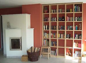 b cherregal ahorn ge lt buche eiche nussbaum wei lackiert b cherwand massivholz ebay. Black Bedroom Furniture Sets. Home Design Ideas