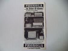 advertising Pubblicità 1965 PHONOLA RADIO/TELEVISORE MASCOTTE