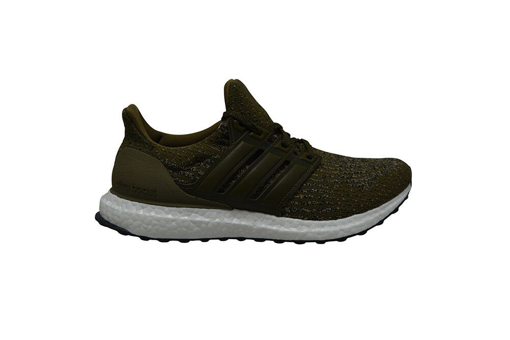 Mens Adidas Ultra Boost - S82018 - Grün Olive Real Leather Trainers