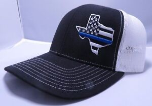 Image is loading Richardson-Texas-Thin-Blue-Line-Snapback-Hat-Trucker- 0ef05400508