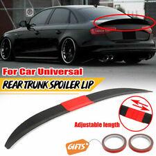 Adjustable Rear Trunk Spoiler Lip Roof Tail Wing Black For Car Sedan Universal Fits Toyota Yaris