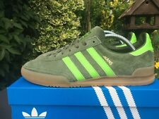 Adidas Jeans MK2 Green & Green Suede  BNIB Very Rare Size 8 80s Football Casual