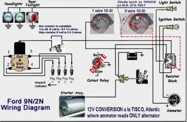 FORD 9N 2N TRACTOR 12V CONVERSION WIRING DIAGRAM 12 VOLT ...