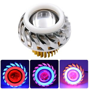 Dual-Halo-Motorcycle-12V-85V-Projector-Hi-Lo-Beam-LED-Angel-Devil-Eyes-Head