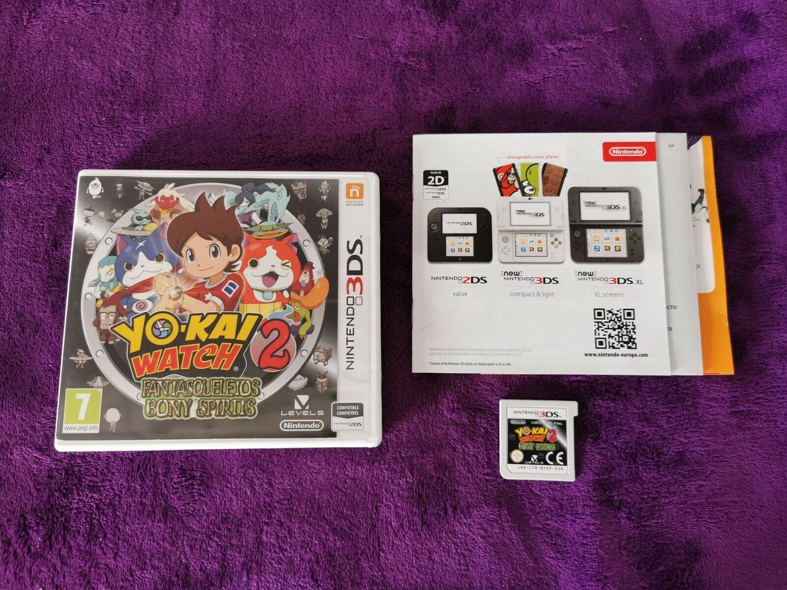 YO-KAI WATCH 2 FANTAESQUELETOS YOKAI 3Ds Muy Buen Estado PAL ESP Nintendo