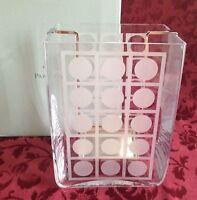 PartyLite RETRO STYLE HURRICANE P8345 Votive Pillar Glass Candle Holder Vase NIB