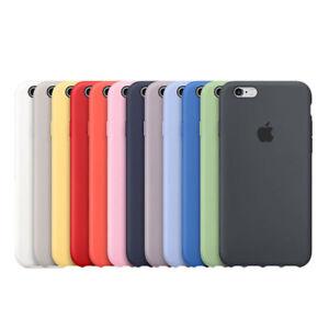 Original Silicone Case For Apple IPhone 8 Plus X 7 6 5 5S SE Genuine OEM Cover
