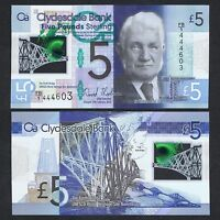 2015 SCOTLAND CLYDESDALE BANK 5 POUNDS POLYMER P-369 UNC