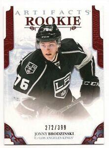 Jonny-Brodzinski-17-18-Upper-Deck-Artifacts-Rookie-Card-Ruby-Red-399