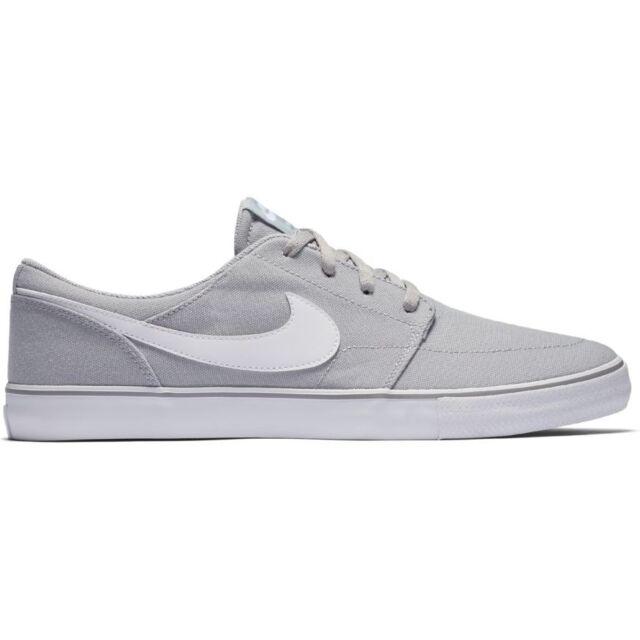 6f94ceb641c43 Nike Men s SB Portmore II Solar CNVS Wolf Grey white Black Skate ...