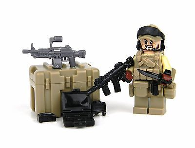 made with real LEGO® minfigure SKU26 Green Beret SF ODA Team Member Minifig