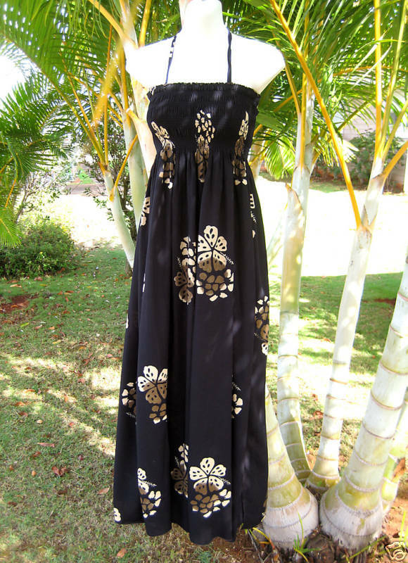 Hawaii Schwarz Geblümt Luau Kreuzfahrt Lang Einheitsgröße Einheitsgröße Einheitsgröße Kleid | Elegant  | Sale Outlet  | Schön und charmant  52a073
