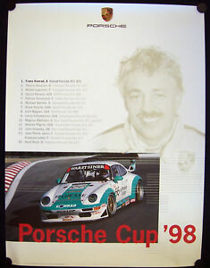 PORSCHE-OFFICIAL-CUP-OFFICIAL-RACECAR-SHOWROOM-POSTER-993-911-GT2-1998