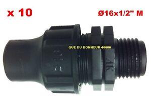 10-Raccords-a-Bague-16-x1-2-034-Male-Arrosage-Goutte-a-Goutte-Irrigation-FM162100
