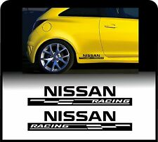 For NISSAN - 2 x  RACING CHECKS - Body Panel - CAR DECAL STICKER ADHESIVE