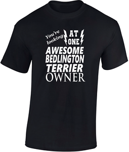 Awesome Bedlington Terrier Owner T shirt New Funny Gift Dog