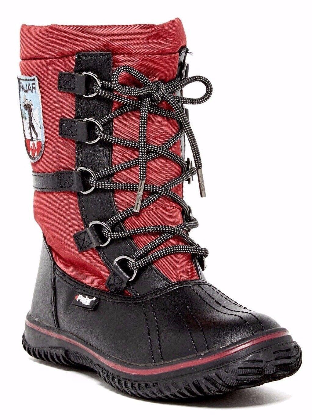 Pajar Grip Grip Grip Low Impermeable Nieve botas De Invierno Para Mujer Negro Rojo Talla 40; US 9 - 9.5 9242e5