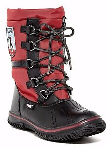 bc1a154fc899 Pajar Grip Low Women s Waterproof Snow Winter Boot Black Red Size 39 ...